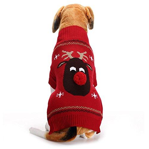 Abrrlo - Disfraz de Perro, Ropa de algodón, suéter de Fiesta,...