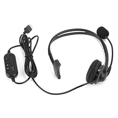 Socobeta Audibility słuchawki z mikrofonem ze skóry PU z izolacją szumów USB VB-540 do biura obsługi klienta