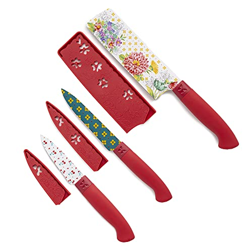 The Pioneer Woman Blooming Bouquet 3-Piece Stainless Steel Knife Set