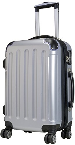 Trolley - Koffer XL - 75cm - 115/138L - Light - 4 Rollen, Dehnfalte, Silber