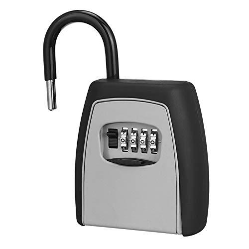 Caja de almacenamiento de llaves, caja de almacenamiento de llaves, candado seguro, aleación de bloqueo de palabra, pasaporte, caja fuerte con llave de combinación.
