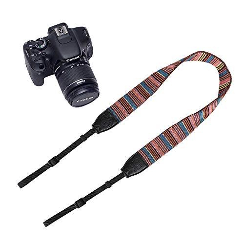 Vintage kameragurt für Alle DSLR-Kamera Baumwolle Einstellbar Kamera Tragegurt Klassisch Schultergurt Universal DSLR Gurt Vintage Multi Color Neck Gürtel für Leica Canon Nikon Fuji Olympus Lumix Sony