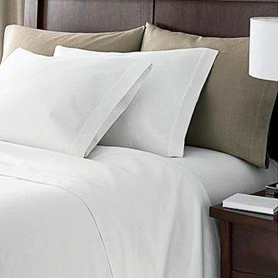 Linens Limited Kissenbezug mit Umschlag 100% Ägypt. Baumwolle FZ 200 King - Weiß, 50 x 90 cm