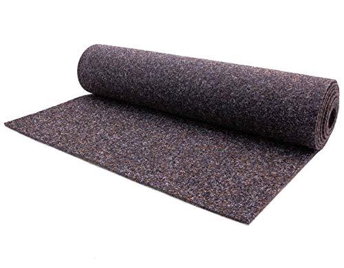 Nadelfilz MERLIN – Dunkelbraun, 200x1800cm ✓ Antistatisch ✓ Strapazierfähig ✓ Zertifizierte Auslegeware | Filz-Teppich, Nadel-Vlies in Meterware | Bodenbelag als Messe-Teppichboden, Büro-Teppich | Gewerblicher Nadelfilzteppich, Teppichboden schalldämmend