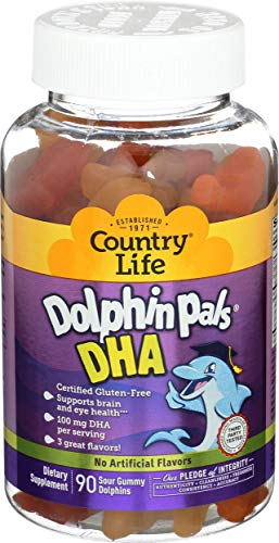 Country Life Dolphin Pals DHA Gummies for Kids, 90 Variety