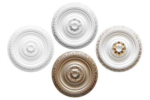 1 rozet | plafond | binnendecoratie | stuck | EPS | decor | 40cm | R-20 zilver