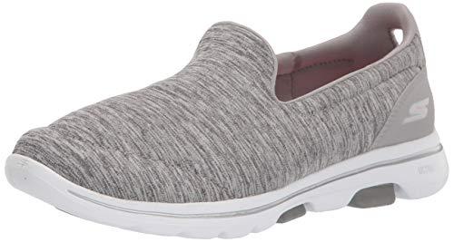 Skechers Women's GO Walk 5-Honor Sneaker, Gray, 8 M US