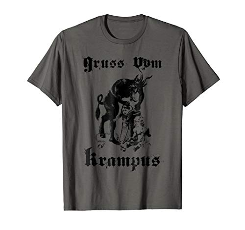 Vintage Gruss Vom Krampus Shirt Christmas Eve Naughty Kids