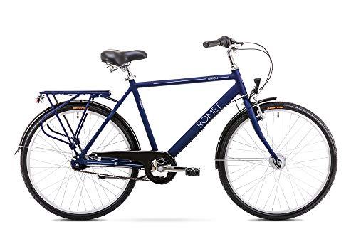 Romet ORION 7S City Bike 26 Zoll Stadtfahrrad Fahrrad Citybike Cruiser Hollandrad Shimano 7 Gang 20 Zoll Aluminium Rahmen anthrazit