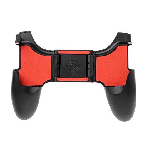 Qintaiourty Manette de jeu manette de jeu poignée de manette de jeu contrôleur de jeu pliable étendu télescopique réglable 4.5-6.5inch support de téléphone titulaire