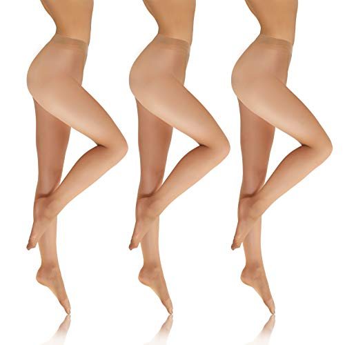 Sesto Senso Collant Trasparenti Donna 8 Den 1 o 3 Pezzi Invisible Pantyhose XL Naturale 3 Pack