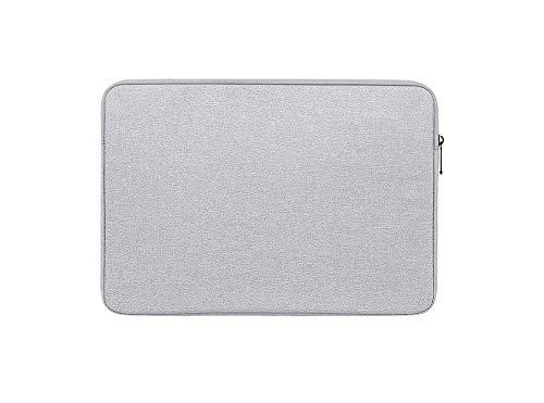 HUYIWEI Funda para ordenador portátil o tablet, iPad de 15 pulgadas, gran capacidad, impermeable, color gris