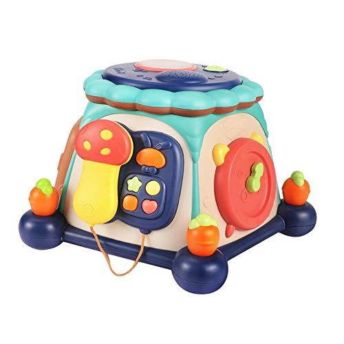 lahomia Tambor para Niños Juguete Educativo para Bebés Tambor con Luces Y Sonidos Juguete Divertido para Jugar