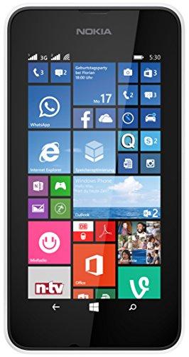 Nokia Lumia 530 Smartphone inkl. Hülle (10,2 cm (4 Zoll), Dual-SIM, 1,2GHz Snapdragon Quad-Core Prozessor, 512MB RAM, 5 Megapixel Kamera, Bluetooth, USB 2.0, Win 8) weiß