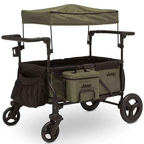 Jeep Deluxe Wrangler Stroller Wagon by Delta Children - Includes Cooler Bag, Parent Organizer and...