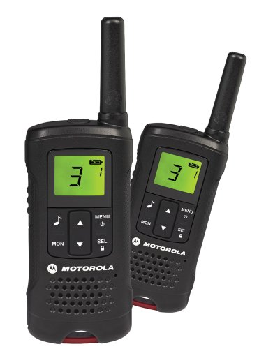 Motorola Talker T60 - Radio walkie-Talkie (2 Unidades), Color Negro