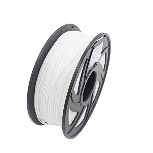 Cobeky Pla Filament 3D Printer Material Pla Filament 1.75mm Diameter Printing Material Supply 3D Printers 1Kg(2.2Lb)/ Spool(White)