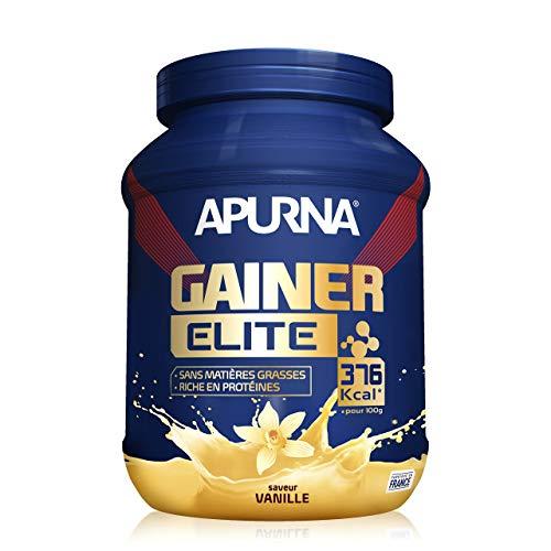 APURNA - GAINER ELITE VANILLE - Pour la Prise de masse - Pot de 1,1kg