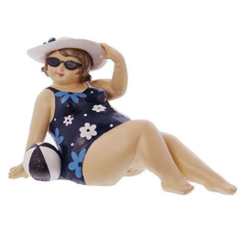 "Figur ""Dame mit Strandball"" aus Polyresin, Dekofigur, Dekoobjekt"