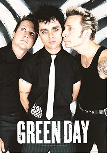 Heart Rock Bandera Original Green Day Band Póster, Tela, Multicolor,