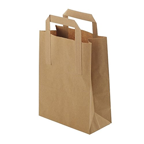 BIOZOYG Umweltschonende Papier Tragetaschen groß I Papiertüten Geschenktüten Papiertragetaschen biologisch abbaubar, kompostierbar I 250 x braune Papier Tüten 32 x 12 x 40 cm