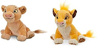 Simba Plush and Nala Plush The Lion King - Mini Bean Bag - 7''
