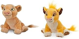 Simba Plush and Nala Plush The Lion King - Mini Bean Bag - 7''