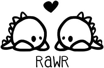Rawr Means I Love You Vinyl Decal, Lil Dinos Rawr Sticker Rawr Chibi, Rawr is Dinosaur for I Love You