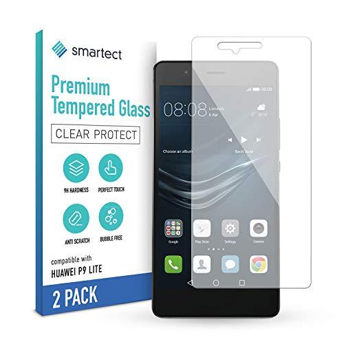 smartect Schutzglas kompatibel mit Huawei P9 Lite [2 Stück] - Tempered Glass mit 9H Härte - Blasenfreie Schutzfolie - Anti-Kratzer Displayschutzfolie