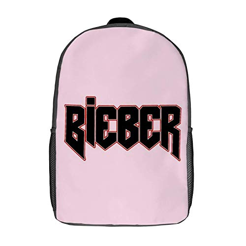 harry wang IFMAXCOX Jus-tin Bie-BER 17 pulgadas Ligero, linda impresión clásica mochila escolar negra para estudiantes