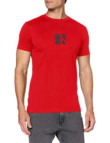 Calvin Klein Jeans Herren Small Center Ck Box Tee Hemd, Red Hot, L