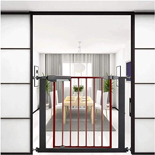 DFKDGL Pressure Fit Safety Metal Gate Stands 76cm tall The width can be selected from 75 to 196cm Pet Gate baby gate with Extensions Available (Color : High76cm, Size : 105cm-116cm)