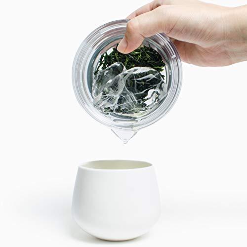 【透明急須120ml茶こし付】煎茶堂東京の割れない・熱くない・かさばらない急須
