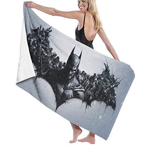 AGSIGGS Bat-Man Toalla de playa de algodón de microfibra absorbente toallas de baño de secado rápido para mujeres, niños