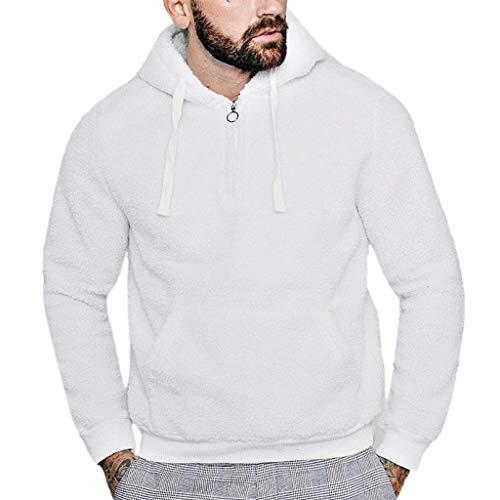 Hoody Sweat-Shirts Homme Mode pour des Hommes Automne Hiver Décontractée en Vrac Peluche Double Face Hauts à Capuche Manteau Roiper