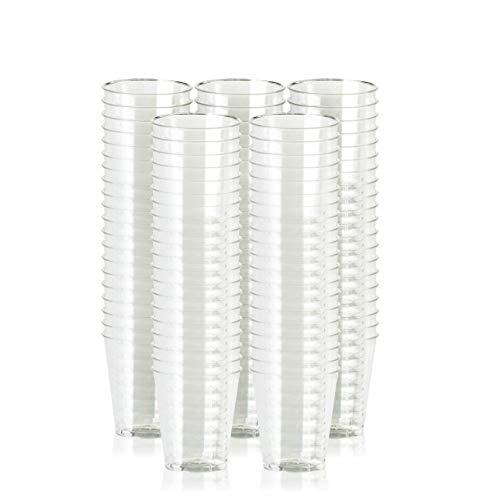 100 Vasos de Chupito de Plástico Duro, Vasos para Shots Transparentes, 60ml - Resistente y Reutilizable.