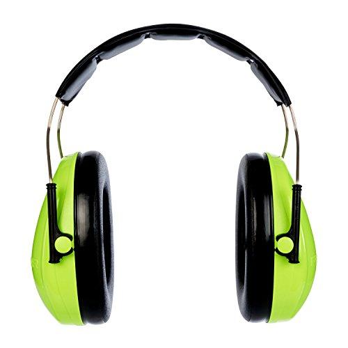 3M Peltor Optime I Kapselgehörschutz, Kopfbügel, Hi-Viz, SNR 27 dB, hohe Sichtbarket, 1 Stück, grün