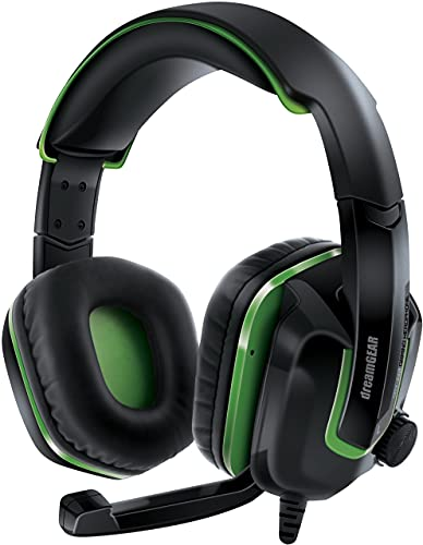 DreamGEAR DGXB1-6638 GRX-440 Wired Headset for Xbox One - Black/Green