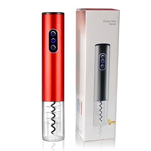 Supermega Abrebotellas eléctrico para Vino Sacacorchos Eléctrico Abre Vino Automático Profesional Abridor de Botellas Vino eléctrico ABSUltra Resistente (Rojo)
