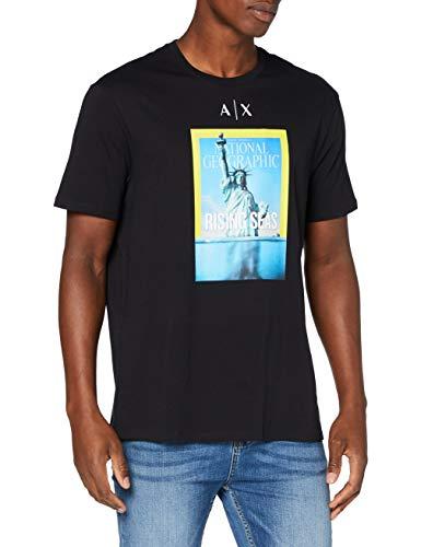 Armani Exchange Mens T-Shirt, Black, XX-Large