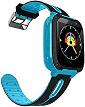 HelloPet S4 Kid Smart Watch (LBS Tracking ONLY) SIM Card Child SOS Call Locator Camera Screen SmartWatch (Blue)