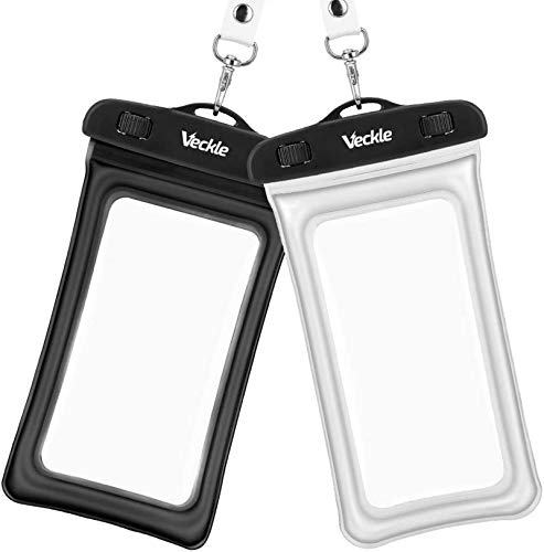 Veckle Waterproof Phone Pouch, 2 Pack Clear TPU Universal Water Proof Cell...