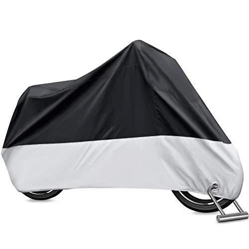 PUBAMALL Cubierta Impermeable para Motocicletas, protección contra el Polvo, escombros, Lluvia y…