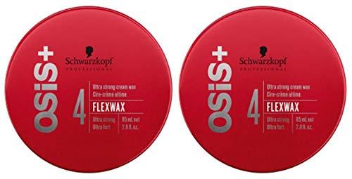 Schwarzkopf Professional – Paquete doble Osis+ Flexwax, cera de peluquería, 2 x 85 ml
