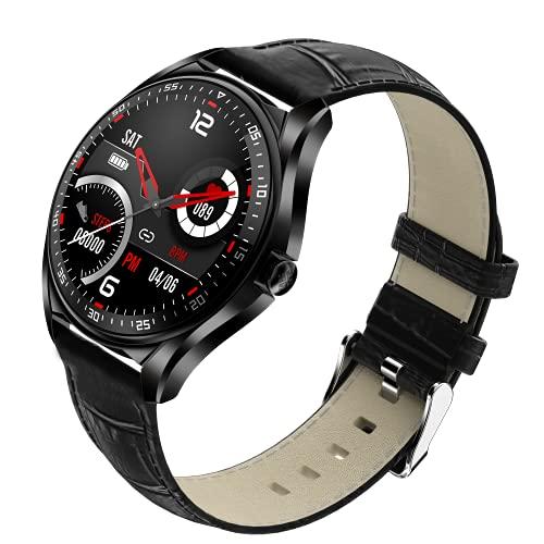 shjjyp Smartwatch Uomo Acciaio Nero Orologio Fitness Tracker Uomo Smart Watch 5 ATM Smart Watch Cardiofrequenzimetro da Polso Pressione Smartband GPS 47 Mm Chiamata Tramite Bluetooth