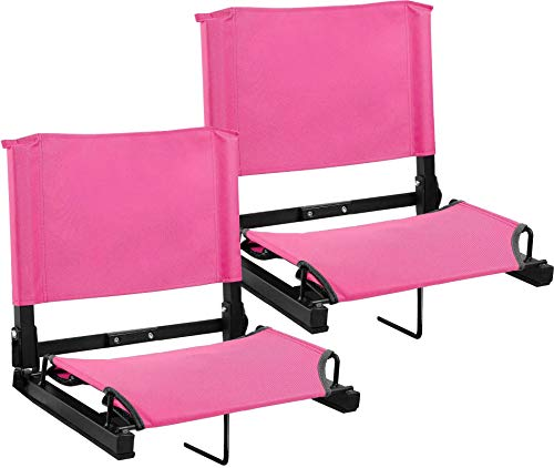 Sports Unlimited Stadium Seat Bleacher Sitz, Pink, 2 Pack