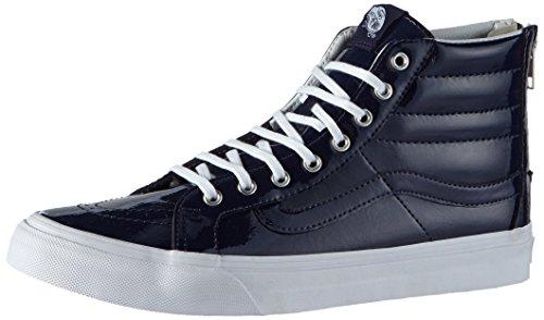 Vans Girl's Hi-Top Sneakers, Blue (Tumble Patent/Peacoat), 4 Big Kid