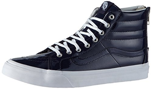 Vans Girl's Hi-Top Sneakers, Blue (Tumble Patent/Peacoat), 4 Big Kid