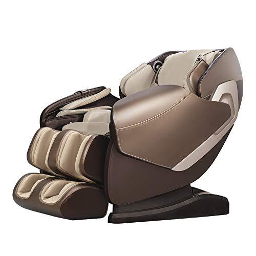 Real Relax SL-Track 3D Shiatsu Massagesessel Liegesessel mit Lautsprechern, Braun