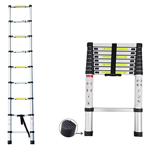 2020 Latest Design DIY Multi-Purpose Aluminium Telescopic Ladder Extension Extend - Portable Foldable...